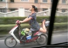 LOL!! How to ride a scooter...