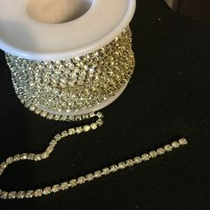 A personal favorite from my Etsy shop https://www.etsy.com/listing/476768411/rhinestone-by-the-yard-2mm-f65