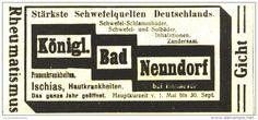Original-Werbung/ Anzeige 1918 - KÖNIGLICHES BAD NENNDORF - ca. 90 x 45 mm