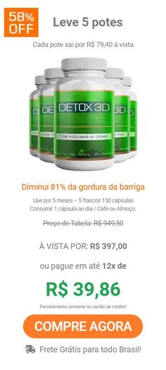 detox 3d com picolinato de cromo