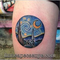 Mispinned im sorry!~kim 31 Gorgeous Tattoos Inspired By Famous Artists: Vincent Van Gogh Tattoos Motive, Bild Tattoos, Body Art Tattoos, Sleeve Tattoos, Tatoos, Gorgeous Tattoos, Pretty Tattoos, Cute Tattoos, Van Gogh Tattoo