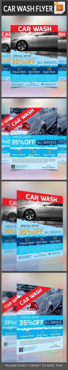 Car Wash Service Flyer Template | Car Wash Services, Car Wash And