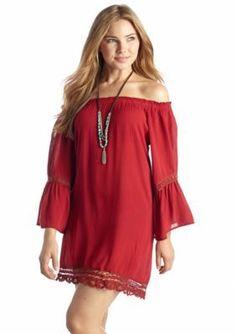 Flying Tomato  Gauze Bell Sleeve Dress