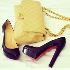 Bag + shoes from January #chanel #louboutin - @chiaraferragni- #webstagram