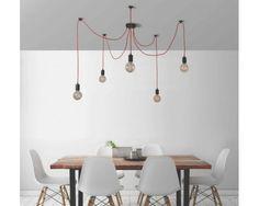 Lámpara Spider para 5 Bombillas Vintage Vistas de FilamentStyle   colgantes   de techo   La Casa de las Lámparas