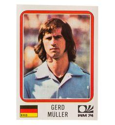 Panini München 74 Sticker Nr. 101 - Gerd Müller WM 1974 vorne