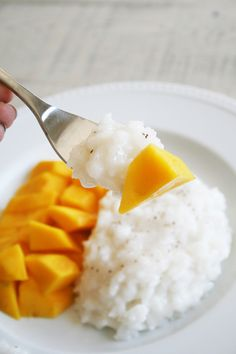 Coconut Mango Sticky Rice - The Color Issue