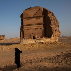 The Nabatean Tomb of Qasr al-Farid at the Maidan e Saleh UNESCO World Heritage site in Saudi Arabia, March 2, 2013. Photograph by Lynsey Addario—VII for TIME. For more pictures from Saudi Arabia, visit lightbox.time.com.