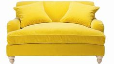 lemon yellow sofa: