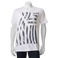 Express yourself in this cool men's American Flag tee from Apt. Mens Patriotic Shirts, American Flag, Graphic Tees, Tunic Tops, Celebrities, Mens Tops, Box Store, Clothes, Badass