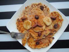Fitblog. Odchudzanie, przepisy, motywacja.: Niskokaloryczne placuszki z serka wiejskiego - 35kcal sztuka Pancakes, French Toast, Cookies, Breakfast, Fitness, Desserts, Pierogi, Recipes, Food