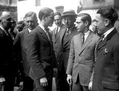 In the photo below, Richard Loeb (left) and Nathan Leopold (right) stare at each other after confess... - Chicago Tribune