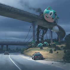 Somewhat creepy art by Simon Stålenhag - Imgur