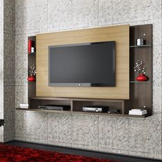 Expanda a sua visão, móvel também ajuda na decoração. Pode ter certeza que até mesmo os painéis conseguem isso! Tv Unit Design, Tv Wall Design, Wall Art Designs, Tv Rack, Framed Tv, Wall Mounted Tv, Tv Cabinets, Entertainment Center, Drawing Room