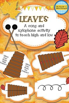 This is great for teaching high/low on xylophones. It gives students an opportunity to play a glissando while learning about high/low.
