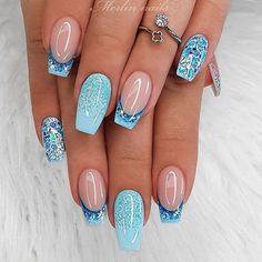 Bright Summer Acrylic Nails, Best Acrylic Nails, Summer Nails, Cute Acrylic Nail Designs, Disney Nail Designs, Shellac Nail Designs, French Tip Nail Designs, Nagellack Design, Nail Art Designs Videos