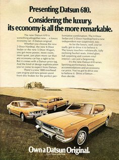 1972 Datsun 610 Series Advertising US News & World Report December 4 1972 | Flickr - Photo Sharing!