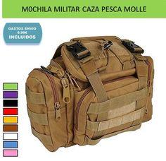 Mochila riñonera militar para deportes caza, montaña, aventura y naturaleza.