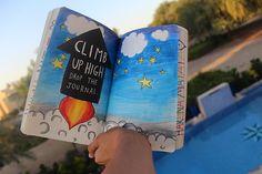 Wreck this journal (Climb up high drop the journal)