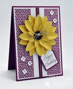 Splotch Design - Jacquii McLeay - Stampin Up - Blossom petals builder card