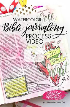 Bible journaling how to watercolor paint in your Bible | process video