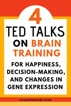 4 TED Talks on Brain Training for Happiness, Decision-Making, and Changes in Gene Expression Great life changing TED talks. Learn how to use your brain properly and change your life forever. Best Ted Talks, Coaching, Gene Expression, Budget Planer, Thing 1, Brain Training, Self Improvement Tips, Psychology Facts, Color Psychology