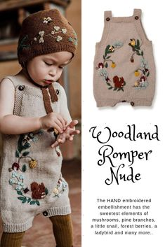Our new Woodland romper for kids ❤This unique piece of children clothing is ha. Our new Woodland romper for kids ❤This unique piece of children clothing is hand knitted from our signature merino and h. Baby Outfits, Kids Outfits, Baby Knitting, Crochet Baby, Rompers For Kids, Knitted Baby Clothes, Kids Wardrobe, Kids Fashion Boy, Boho Baby
