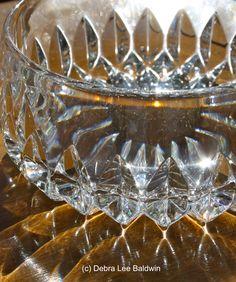 Cut glass bowl, sunlit Waterford Crystal, Cut Glass, Milk Glass, Depression, Shapes, Crystals, Vintage, Decor, Art