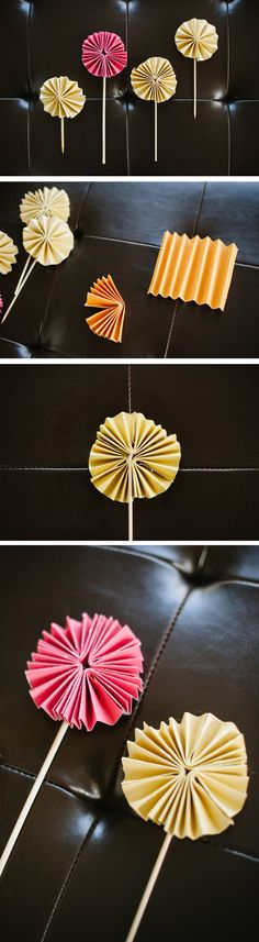 DIY Pinwheels - could be cool decoration for food table