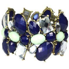 Stretch Bracelet - Mint ($20) ❤ liked on Polyvore