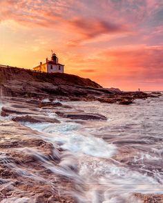 Beavertail Lighthouse, Rhode Island I would like to go some where and see a lighthouse! #VisitRhodeIsland
