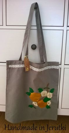 "Handmade in Jerutki: Torba - ""Złote jabłka"" / shopping bag"