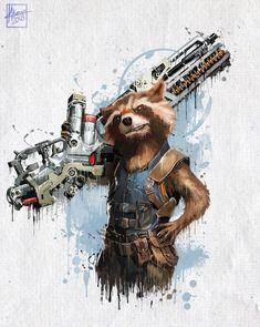 Rocket Raccoon - Marvel Infinity War par Mayank Kumar