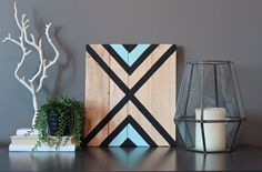 Modern Tribal wood wall art sign by SamBeeDesigns Wooden Wall Art, Diy Wall Art, Wood Wall, Diy Art, Wall Art Decor, Wall Decor Crafts, Stick Wall Art, Barn Quilt Designs, Barn Wood Crafts