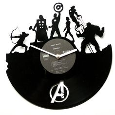 Record wall clock modern wall clocks vinyl por secondlifeforvinyl