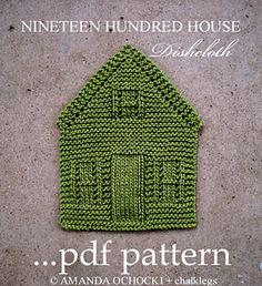 Ravelry: Nineteen Hundred House Dishcloth pattern by Amanda Ochocki ($3.00)
