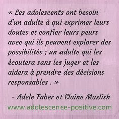 Conscience, Adolescence, Coaching, Parenting, Positivity, Children, French Tips, Inspring Quotes, Citation Vie