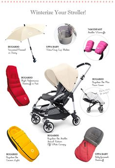 Winterize your #stroller! Accessories on @La Petite Peach to make your #stroller ready for the winter