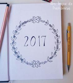 Customizando agenda comum 2017 para bullet journal #bulletjournal #bujo