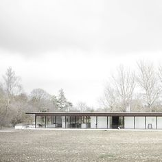 Architecture, Norm Architects, United Kingdom, glass house, farmhouse, flat-roofed house, residence