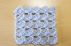 長編みの模様編み 1-1 How to double crochet pattern