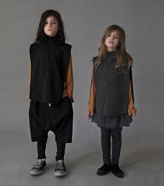 A hint of colour in the mostly monochrome world of Nununu fall 2016 kidswear
