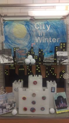 Winter Carnival/St. Paul City display @ Hayden Heights Library.