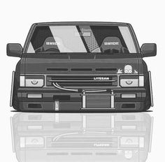 Nissan Vans, Nissan Trucks, Car Animation, Nissan Hardbody, Nissan Terrano, Lowrider Trucks, Car Station, Nissan Nismo, Dropped Trucks