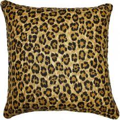 Cheetah Pillow Linen Blackband Design