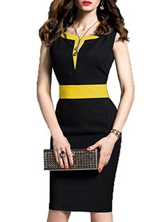 Fashion 2019 Women Fashion Office Lady Dress Sleeveless Work Dress Clothes Sheath Summer Bussiness Style Slim Pencil Dresses Size S Color Green Office Dresses For Women, Dresses For Work, Summer Dresses, Clothes For Women, Black Pencil Dress, Dress Black, Pencil Dresses, Very Short Dress, Elegant Fashion Wear