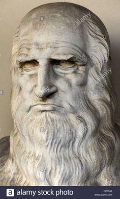 Bust of Leonardo da Vinci Courtyard of Pinacoteca Ambrosiana, Milan, Italy Michelangelo, Sandro, Body Poses, Classical Art, Art For Art Sake, Science Art, Renaissance Art, Art Object, Art Music