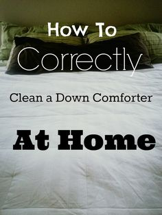 How to clean a down comforter at home. #clean #bedroom #laundry