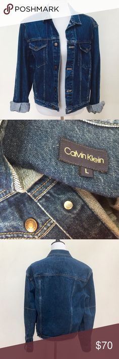 Vintage Calvin Klein jean jacket Vintage Calvin Klein jean jacket, around 1982, says large but fits now a days like a woman's medium Calvin Klein Jackets & Coats Jean Jackets