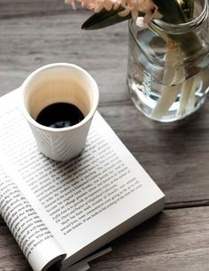 Books and coffee are the best of friends!  (Hand-in-glove!)